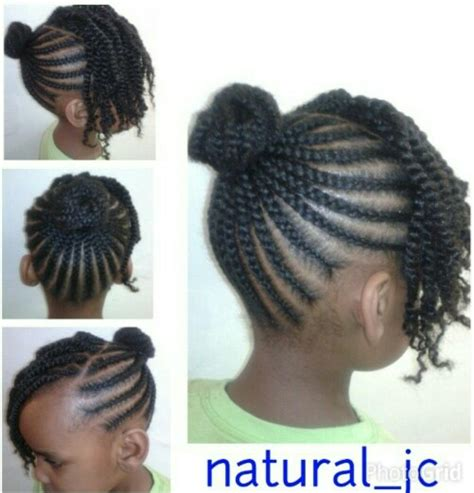 images of black braided bunstyle with bangs in back hairstyle cornrowed bun twisted bangs baby girl s hairstyle