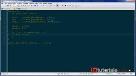 tutorial javascript drag and drop javascript drag and drop tutoriale video