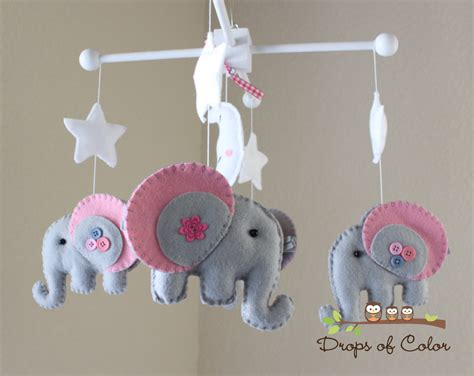 elephant mobile baby crib mobile baby mobile elephant mobile by