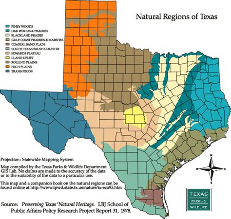 texas map of regions texas in bloom