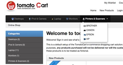 Tomatocart Add Menu Icon For Bootstrap Template Arvixe Blog Add To Cart Template Bootstrap