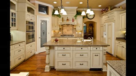 kitchens with cream cabinets antique cream colored kitchen cabinets youtube