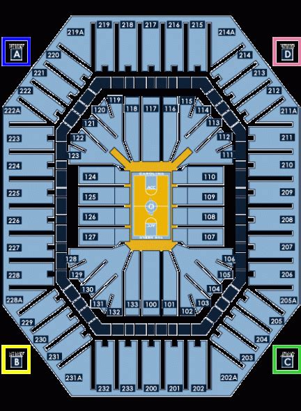 unc basketball seating chart dean smith carmichael center seating charts keeping it