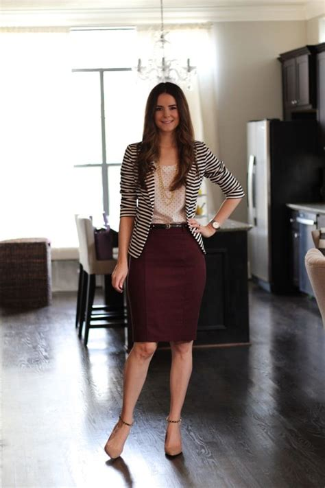 Winegreenbeige Stripe Casual Top 24540 229 best skirt ensembles images on black tights capsule wardrobe and hairstyles