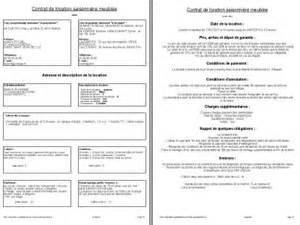 bail location meuble gratuit pdf