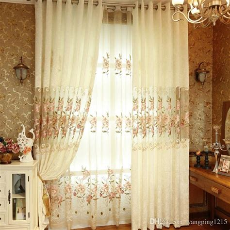 beige kitchen curtains 2017 beige modern fashion sheer embroidered curtains for