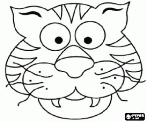 tiger mask coloring page pin tiger mask color printable pictures on pinterest