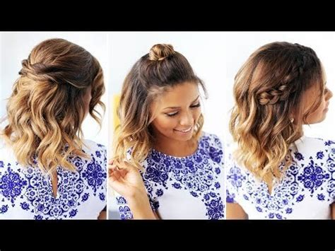easy hairstyles for short hair in summer 3 easy hairstyles for short hair luxyhair x video