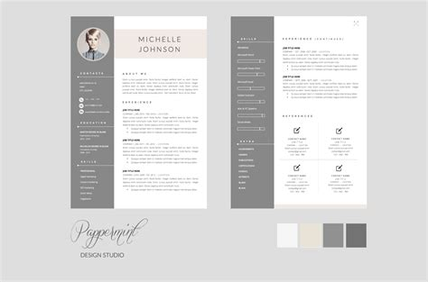 graphic design resume template word resume template cover letter word resume templates on