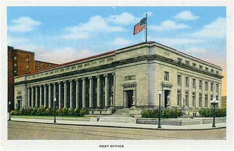 Post Office Dayton Ohio by U S Route 40 Roadside Attractions Ohio