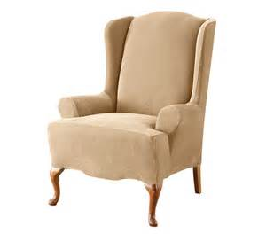 Wing chair slipcover to renew old wing chair exist decor