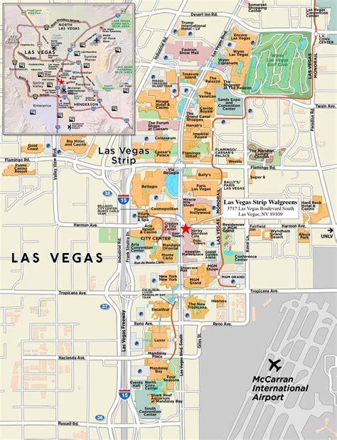 printable las vegas road map red paw technologies las vegas strip