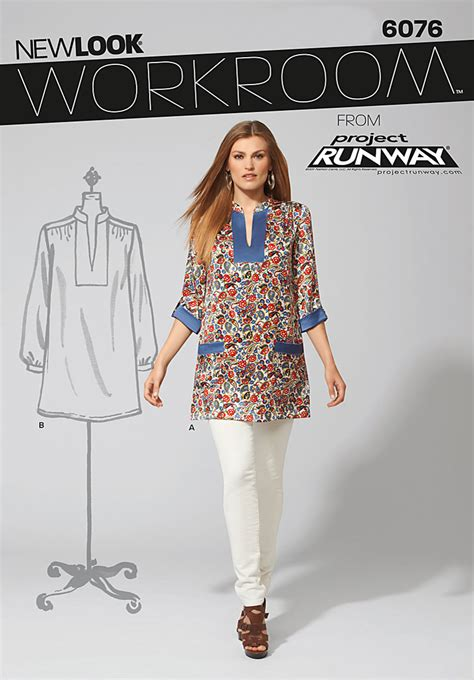 pattern runway review new look 6076 workroom from project runway misses tunic