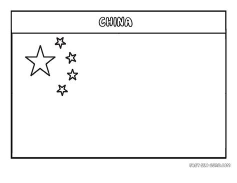 printable flag of china coloring page printable coloring