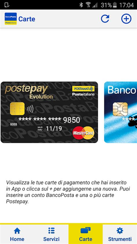 www conto banco posta bancoposta android apps on play
