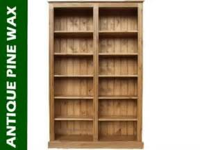 unfinished pine bookshelves solid pine bookcase 6ft x 4ft split crafted