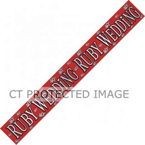 Ruby Wedding Banner by Ruby Wedding 9ft Banner Banners Bunting
