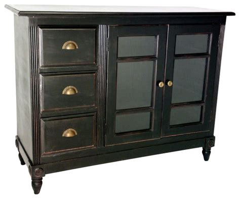 houzz sideboards wayborn country sideboard in antique black transitional