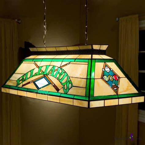 light pool table billard pool table l stained glass 2 light