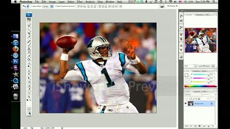 how to make a cool nfl player edit in photoshop youtube