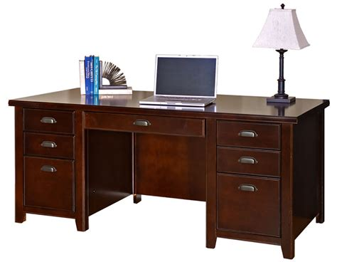 Cherry Double Pedestal Desk Ebay Cherry Desk