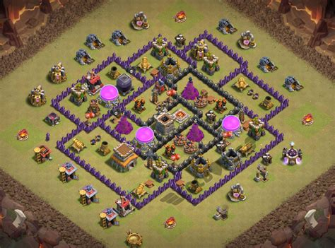 coc layout anti gowipe th8 top 53 best th8 bases war farming trophy hybrid