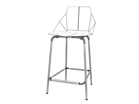 Real Counter Stool by Real Counter Stool 3d Model Dot