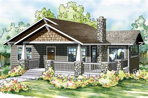 Farmhouse Plans With Porches by Bungalow House Plans Lone Rock 41 020 Associated Designs