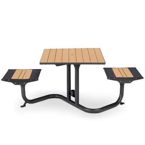 Plastic Bistro Table Beacon Hill Recycled Plastic Bistro Table 2 Flat Seats Picnic Tables Upbeat