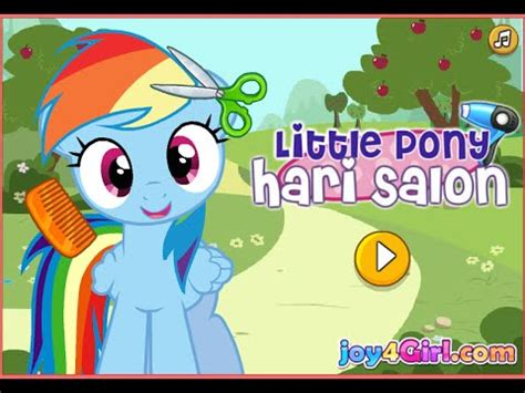 games haircut my little pony kid video my little pony hair game youtube