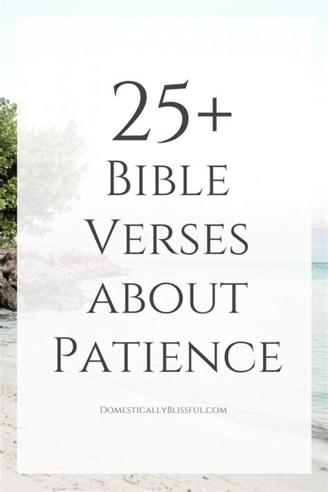 Bible Quotes About Patient by Bible Verses About Patience Domestically Blissful