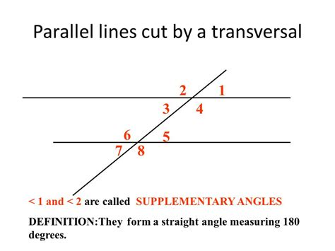 theme transversal definition parallel lines cut by a transversal ppt video online
