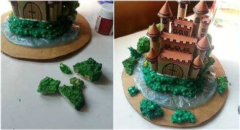 How To Make A Bush Out Of Paper - diy miniature castle 183 how to make a 183 papercraft on