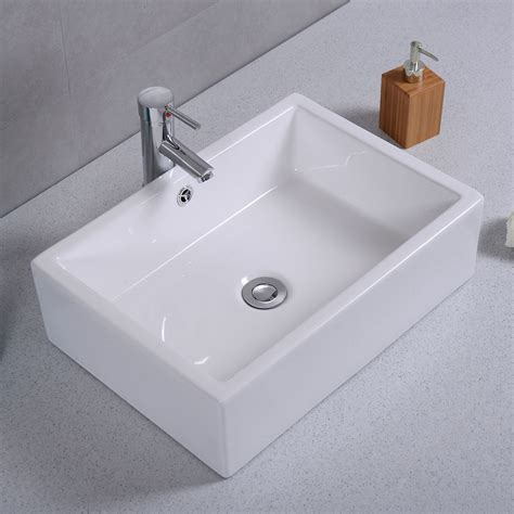 bathroom ceramic sink 20 quot ceramic bathroom sink rectangle vessel bath deck mount