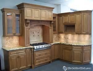 Cinnamon maple glaze assembled kitchen cabinets