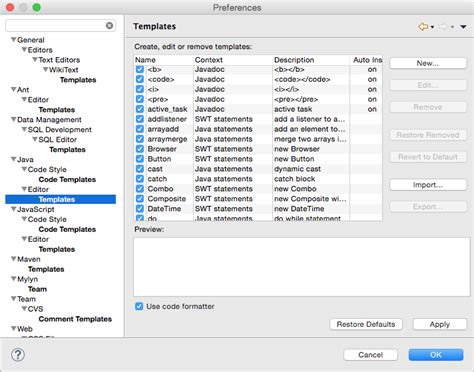 eclipse template templates en eclipse adictosaltrabajo