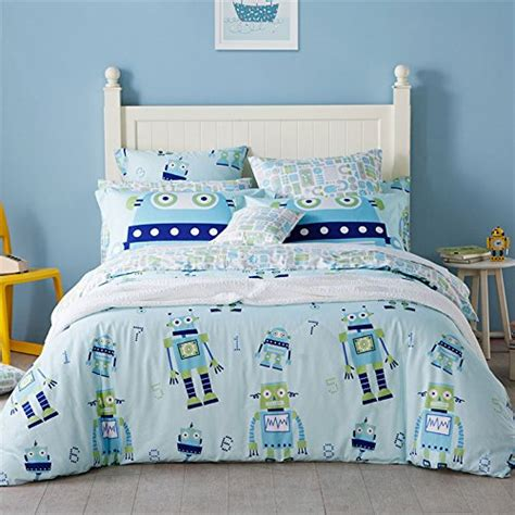 kids cotton comforter lelva kids bedding for boys cotton robot bedding set teen