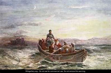 painting escape the escape of of scots from loch leven castle