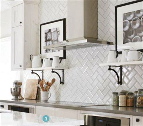 Kitchen Backsplash Subway Tile Patterns Kitchen Backsplash White Beveled Subway Tile Us Ceramics 3x6 Subway Tiles In Herringbone