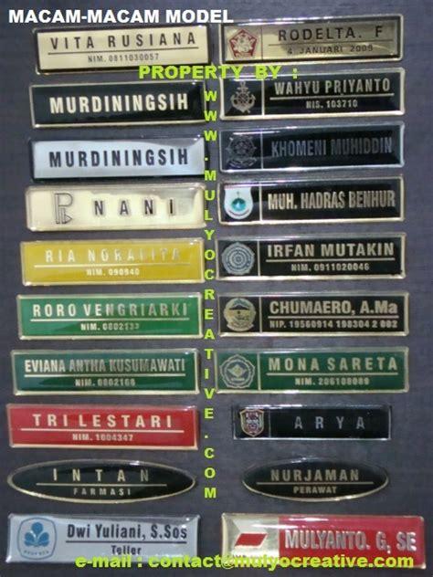 Bordir Papan Nama pesan name tag jual name tag sedia name tag tempah name