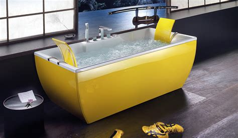 yellow bathtub interior design ideas