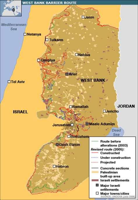 wast bank the west bank barrier religious conflict