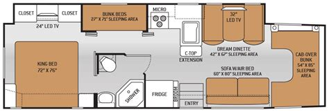 rv floor plans class c rv class c floor plans interior of small rv stock image
