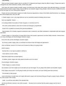 Argumentative Essay On Plastic Surgery by Plastic Surgery At Essaypedia