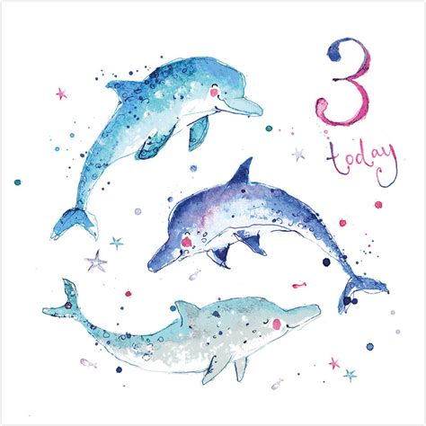 Dolphin Birthday Card