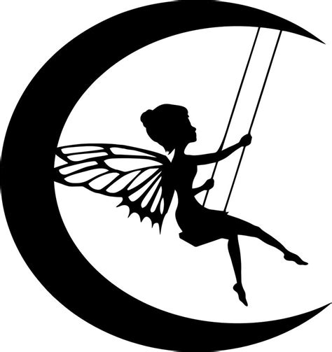 how to draw a fairy silhouette step by step drawing die cut silhouette moon fairy on swing topper x 6 for