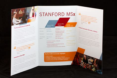 Stanford Exec Mba by Stanford Msx Brochure On Behance