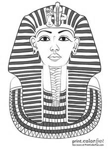 king tut mask template king tutankhamun s mask coloring page print color