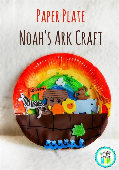 Paper Plate Bible Crafts - paper plate noah s ark craft bible activities bible
