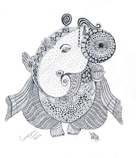 doodle pensil doodles vinayagar pencil drawing
